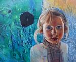 broken dreams (2017), Öl auf Leinwand, 100 x 80 x4 cm