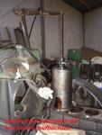 Laufbüchse ziehen mit Perkins-Spezialwerkzeug u. Eigenbau-Adapter