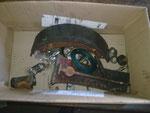 alte Bremszylinder, Bremsbeläge, Dichtringe etc. ... Revision einer Bremse