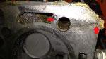 Frostriss Zylinderkopf mit früherem Reparaturversuch