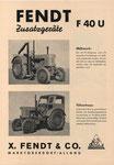 F40U Zubehör - 1 Blatt