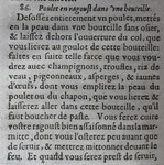 VARENNE, François Pierre de la. Hühnchen in der Flasche I