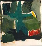 """""""sans titre"""", 1996, 21x29, huile sur papier marouflé sur toile ©"""