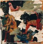 """d'après """"le concert champêtre"""" de Le Titien, 1995, 40x40, huile sur papier marouflé sur toile ©"""