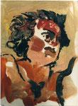 """""""sans titre"""" d'après Le Tintoret, 1996, 21x29, huile sur papier marouflé sur toile ©"""