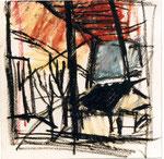 """""""fenêtre"""", 1995, 20x20, pastel gras sur papier ©"""