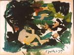 """""""le déjeuner sur l'herbe"""" d'après Manet, 1995, 21x29, huile sur carton ©"""