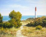 Le phare de La Couronne ( série Cote Bleue )      Huile/Toile ( 41 / 33cm )      DISPONIBLE