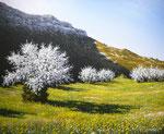 Les messagers du printemps      Huile/Toile ( 65 / 54cm )      VENDUE