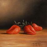 Trois fraises      (Huile/Toile)      NON DISPONIBLE