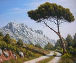 Dans les pas de Cezanne      Huile/Toile      (55/46cm)      VENDUE