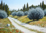 En promenant vers Lançon de Provence      ( 46 / 33cm )      VENDUE