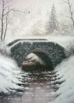 Jour de neige      Huile/Toile ( 33 / 24cm )      VENDUE