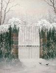 C'est l'hiver      Huile/Toile ( 35 / 27cm )      VENDUE