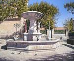 Fontaine des quatre saisons (Maussane-Les-Alpilles)      Huile/Toile ( 46 / 38cm )      VENDUE