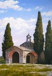 La chapelle St Sixte      Huile/Toile ( 55 / 38cm )      VENDUE