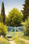 Un petit coin de Provence      Huile/Toile ( 35 / 24cm )      VENDUE