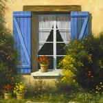 Un petit coin de Provence      Huile/Toile ( 30 / 30cm )      DISPONIBLE