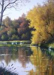 Reflets d'automne      Huile/Toile ( 33 / 24cm )      VENDUE