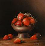 Bol de fraises      (Huile/Toile)      NON DISPONIBLE