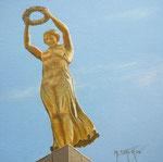 La Dame en or (La Gëlle Fra au Luxembourg)      Huile/Toile ( 20 / 20cm )      VENDUE