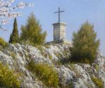 Pieuse Provence      Huile/Toile ( 27 / 22cm )      VENDUE