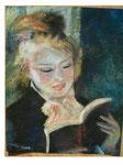nach Renoir - Lesendes Mädchen - 42,5 x 34,5 - Pastell / Karton - 2007