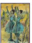 nach Degas - Tänzerinnen - 70 x 50 - Pastell / Papier - 2005