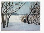 Winter an der Havel - 44 x 58 - Acryl / Hartfaser - 2016