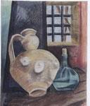 Stilleben mit Krug und Flasche - 67 x 53 - Pastell / Papier - 2003