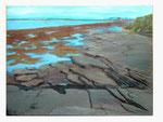 Küste vor Bundoran - Irland - 60 x 80 - Acryl / Hartfaser - 2016