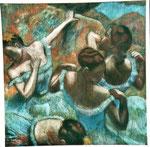 nach Degas - Tänzerinnen in Blau - 65 x 65 - Pastell / Karton - 2001