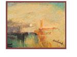 nach Turner - Venedig im Mondlicht - 40 x 50 - Aquarell/Öl / Karton - 2003