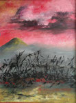 Sonnenuntergang in Australia - 80 x 60 - Acryl / Hartfaser - 2020