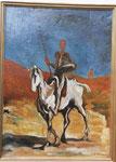 nach Daumier - Don Quixote und Sancho Pansa - 49 x 35 - Öl / Karton - 2003