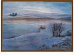 Landschaft im Schnee - 50 x 70 - Pastell / Papier - 2005
