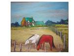 Das rote Pferd - 53,6 x 63 - Acryl / Hartfaser - 2017