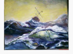 nach Aivazovsky -Wellenreiter - 26 x 30 - Öl / Leinwand - 2010