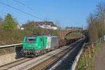 BB37015 mit Leerwagen von Forbach/F nach Dillingen Hütte am 17.03.14 in Saarbrücken-Burbach