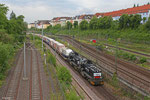 CFL 1584 + 1585 mit DGS 69448 (Bettemborg/L) Forbach/F - München Laim Rbf , Abzweig Saardamm 26.05.14