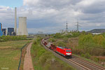 186 338 mit EK 55923 Dillingen Hütte - Saarbrücken Rbf am 08.04.14 bei Ensdorf