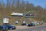 ECR 186 310 mit GA 48298 Trnava/SK - Gevrey/F am 17.03.14 in Saarbrücken Richtung französischer Grenze (GEFCO- Autotransporzug))