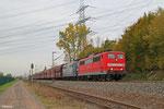 RBH DT 151 143 + 151 127 mit GM 60498 Ensdorf(Saar) - Neunkirchen(Saar) Hbf, Ensdorf 31.10.14