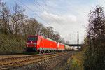 DT 185 186 + 185 055 mit GC 49241 (Dunkerque) Forbach/F - Dormagen, Saarlouis Roden 08.12.14
