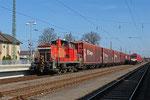 362 878 mit Wagen der Gattung Hbis-tt 293 und Hbins-tt 292 aus dem Opelwerk Kaiserslautern ,  Einsiedlerhof 11.03.14
