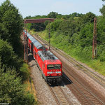 22.07. - Dillingen , 143 919 mit RE 12012 Koblenz Hbf - Saarbrücken Hbf