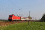 101 114 mit EC 172 Villach Hbf - Hamburg-Altona / LPF 172 Hamburg-Altona - Hamburg-Langenfeld Bbf am 06.04.14 bei Schmerkendorf