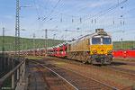 ECR 77 005 mit EZ 49266 Einsiedlerhof - Villers-Cotterêts (VW) , 04.05.14 Ausfahrt Saarbrücken Rbf West