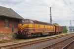 CFL Cargo 1805 wartet in Ehrang auf die Überführung nach Luxemburg
