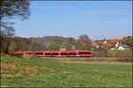 "Doppeltraktion 643 030 + 643 008 ""Schopp"" als RB 12925 nach Kaiserslautern bei Eisenbach"